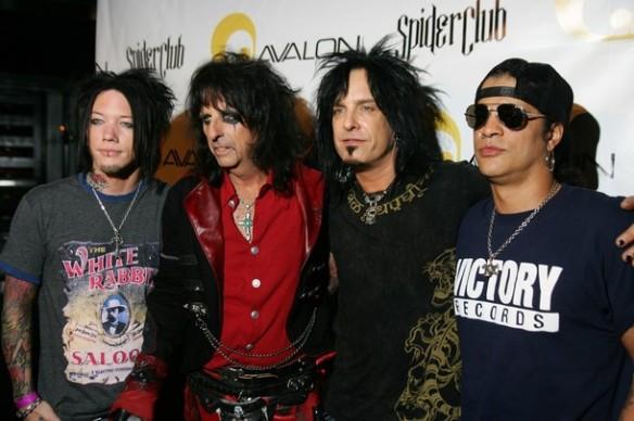 Rock musicians, from left, DJ Ashba, Ali