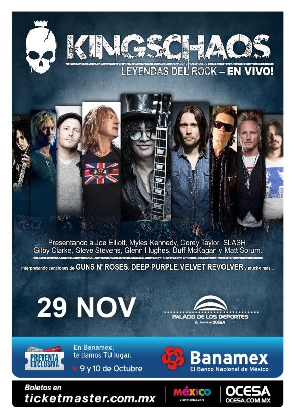 Poster de Kings of Chaos el 29 de Noviembre