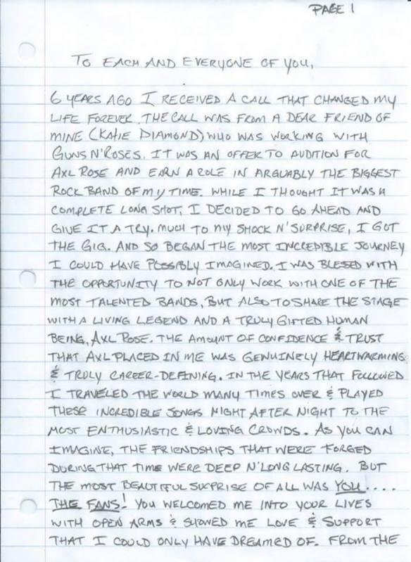 Carta de DJ Ashba