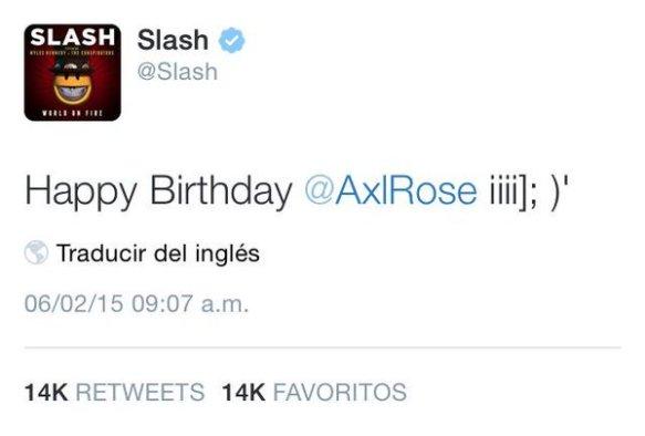 Feliz cumpleaños Axl Rose