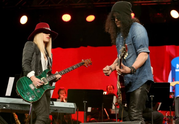 Slash and Orianthi @ NAMM
