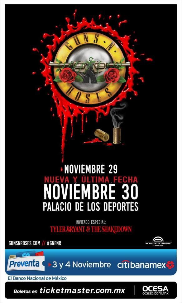 Guns N' Roses agrega nueva fecha a México