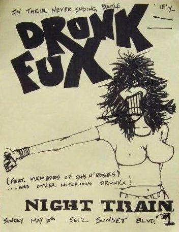 Drunk Fux flyer