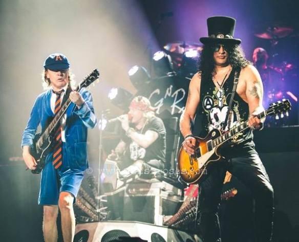 Angus, Axl & Slash