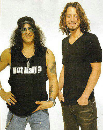 Slash and Chris Cornell