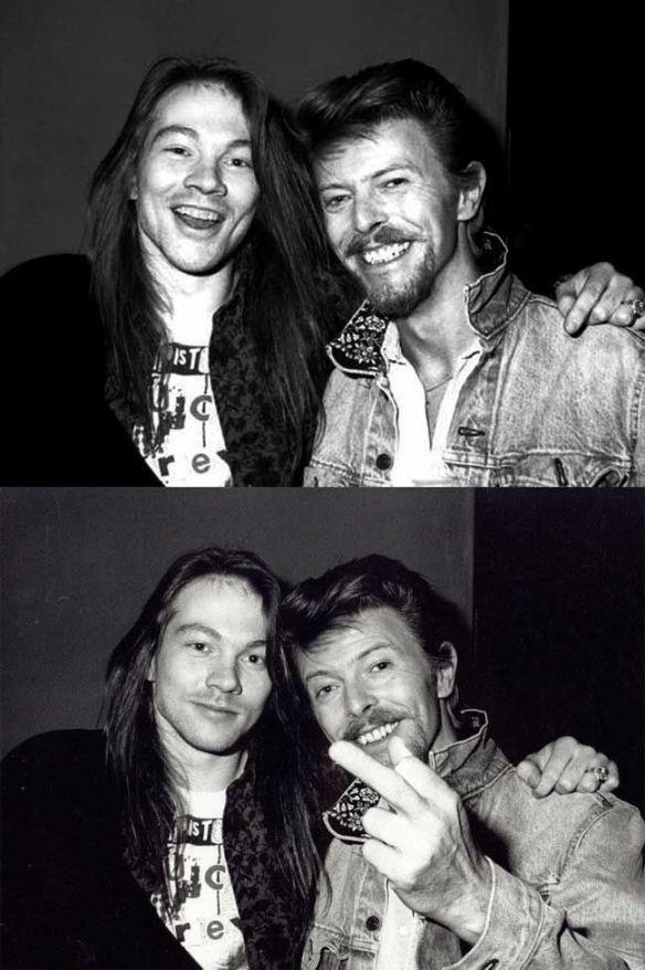 Axl y David Bowie